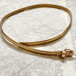 Ann Taylor Women's Gold Leather Belt Size Small